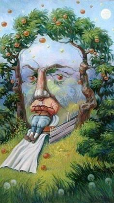 Optical Illusion Paintings, Optical Illusions Pictures, Illusion Pictures, Illusion Drawings, Art Optical, Illusion Kunst, Illusion Art, Oleg Shuplyak, What Do You See