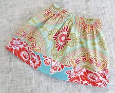 Size 2T  ENGLISH GARDEN Simple Skirt by WhimsicalDragonfly on Etsy, $13.00