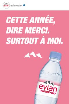 evian natural mineral water originates from rain and snow deposited on the catchment area, a millennia-old site in the heart of the French Alps surrounded by mountains and glaciers. Natural Mineral Water, Water Bottle, Drinks, Quotes, Drinking, Quotations, Beverages, Water Bottles