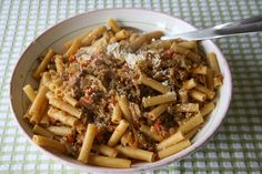 Just wanted to share this delicious recipe from Lidia Bastianich with you - Buon Gusto! PENNE WITH A CABBAGE AND MEAT SAUCE