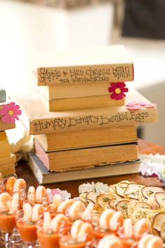 book themed baby shower menu from #Moira events and design. So beautiful!