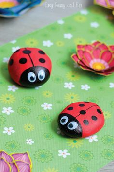 When you got on your next nature walk with your kids make sure to pick up a few rocks so you can make these cute and adorable DIY Painted Lady Bugs! Perfect for an imaginary pet, or as garden decorations, your kids will love painting and creating these cute creatures.