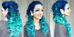 Mermaid Ombre Hair Tutorial!