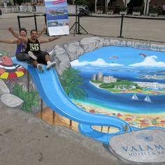 3D Valamar Side Walk Art