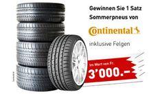 Gewinne mit #Pneu Egger und ein wenig Glück einen Satz Sommer-Reifen inklusive Felgen für dein Auto im Wert von CHF 3'000.-.  https://www.alle-schweizer-wettbewerbe.ch/gewinne-sommer-reifen-inklusive-felgen/