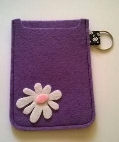 Felt mobile phone cover with daisy detail. http://originl0.wix.com/originlproducts#!online-store/c7zr/!/Felt-Creations/c/10678070/offset=0&sort=normal