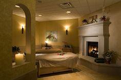 Couples Massage Room at Corazon Health Club. Design by Eileen Goodman, Moody Nolan Architects Columbus Ohio.,  Photography by Michael Houghton/STUDIOHIO/www.studiohio.com