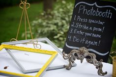 Jessica & Mike Wedding @GardensAtWestGreen  #real #wedding #yellow #gray #garden #diy #photobooth  Photography by Winfield Litte
