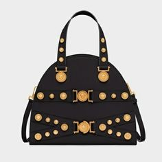 Versace Women Tribute Handbag in Calf Leather-Black c841c45075b8d