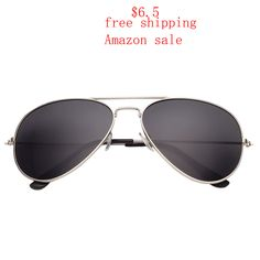 %87 off, $6.9 and free shipping #aviator #sunglasses sale on Amazon
