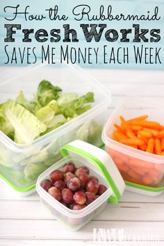 How The Rubbermaid FreshWorks Saves Me Money Weekly while keeping my veggies and fruits crispy fresh! Plus, an awesome Giveaway to win your own set! - abccreativelearning.com