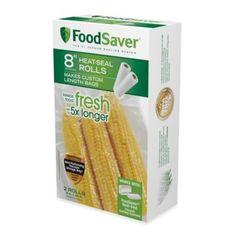 FoodSaver® 8-Inch 2-Pack Vacuum Packaging Rolls - BedBathandBeyond.com