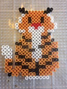 Jasmine's tiger from Disney Aladdin perler bead