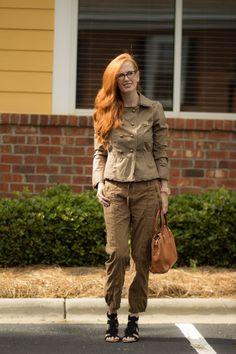 """Atten-Hut""! Neutral Shades+ Tips On Styling The Military Jacket - Elegantly Dressed & Stylish - Over 40 Fashion Blog"