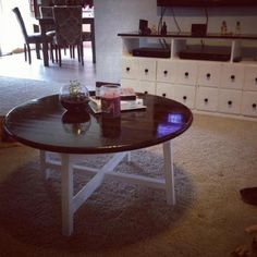 Round X Base Coffee Table | Do It Yourself Home Projects from Ana White