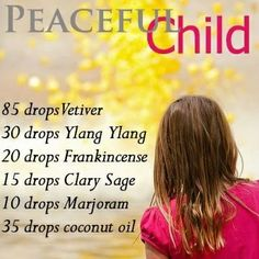 This is a beautiful blend of essential oils that create a little micro climate of calm and focus for kids and adults. Peaceful Child Blend would be amazing at bath time! Add a few drops of PC to a tub full of natural bubbles and everybody wins.