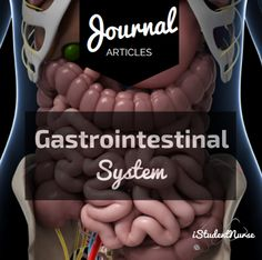 Gastrointestinal (GI) System Journal Articles: A collection of open-access, peer-reviewed scholarly journals on assorted nursing topics for research, study, and learning.