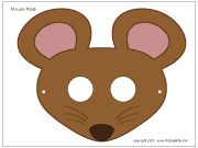 MOUSE MASKS - Four free printable mouse masks, including a b&w one ...