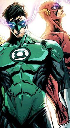 Green Lantern & Flash.