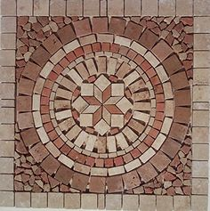 Tumbled Travertine Indoor or Outdoor Art Medallion Mosaic By: Stone Deals Stone Deals http://www.amazon.com/dp/B013U75OK0/ref=cm_sw_r_pi_dp_44rZvb0BPNDP6