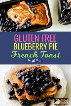 Gluten Free Blueberry Pie French Toast Meal Prep recipe - An easy Gluten free recipe for French toast made with egg whites served with an easy blueberry compote! A perfect gluten free breakfast recipe or even gluten free snack recipe. Vegan Meal Prep, Lunch Meal Prep, Easy Meal Prep, Easy Meals, Keto Meal, Gluten Free Recipes For Breakfast, Lunch Recipes, Healthy Dinner Recipes, Healthy Dishes