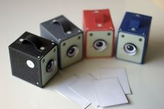 vintage box paper camera project