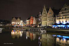 Travel in Clicks: Graslei by night , Ghent