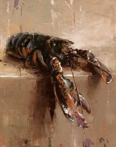 Lobster-II - Original Fine Art for Sale - © by Victor Bauer Artist Gallery, Fine Art Gallery, Nautical Home Decorating, Lobster Art, Still Life Artists, Still Life Photos, Fine Art Auctions, Painting Still Life, Chiaroscuro