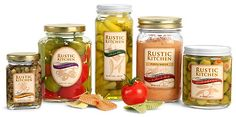 Clear Glass Canning Jars.   The featured clear glass jars include metal plastisol lined caps, which create an air-tight seal when properly applied perfect for preserving your food product.