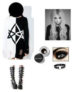 """""""Untitled #14"""" by valen666 ❤ liked on Polyvore featuring Killstar, Demonia and Bobbi Brown Cosmetics"""