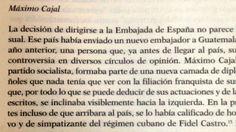 """Murió Máximo Cajal y López, el embajador de """"la quema de la embajada de España"""""""