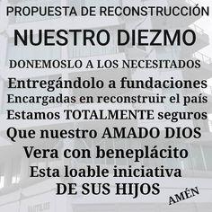 Usemos nuestro DIEZMO para reconstruir nuestro país DIOS vera con sumo agrado esta solidaridad entre pueblo y nos bendecirá. #Diezmo #amor #voluntad #iglesia #paz #love #protesta #Ecuador #manabi #esmeraldas #terremoto #like #good #music #bsc #pastor #union #dinero #work by musicvoga