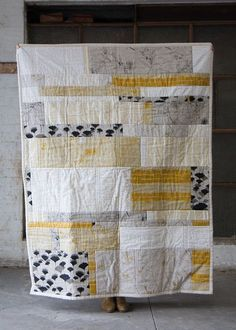 Landscape Quilt by Ink & Spindle, AU I wanna learn how to quilt. Landscape Quilt full size by Ink & Spindle, via… We're had great response to the launch of our new Landscape Quilt design - thanks guys! We'd love to see a photo of your finished quilt if. Big Block Quilts, Strip Quilts, Quilt Blocks, Quilt Kits, Patchwork Quilting, Scrappy Quilts, Easy Quilts, Quilting Fabric, Art Quilting