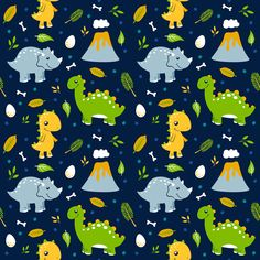 Cute dino pattern of my entry for Dinosaurs challenge @spoonflower challenge. If you like it you can vote on spoonflower.com -> challenges ->Dinosaurs (find my entry)  #spoonflower #surfacedesign #illustration #textileart #dinosaurs #animals #nature #dino  #challenge
