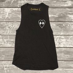 Dumbell Heart Muscle Tank by TheAvenueL on Etsy