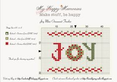 Cross stitch, knitting, crocheting, finishings with tuto's and stuff I like :)