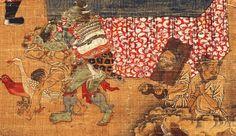 【五殿閻羅王】局部4 元 陸仲淵 絹本著色金泥掛軸。 縱85.9 cm橫50.8 cm 14世紀 奈良國立博物館藏。