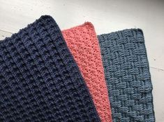 Karklude Dishcloth Knitting Patterns, Crochet Dishcloths, Free Knitting, Crochet Patterns, Crochet Home, Knit Crochet, Hobbies And Crafts, Diy And Crafts, Knitted Washcloths