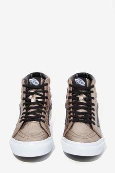 Vans Sk8-Hi Sneaker - Metallic Leather