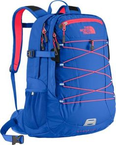 The North Face Women's Borealis Laptop Backpack Dazzling Blue/Rocket Red - via eBags.com!