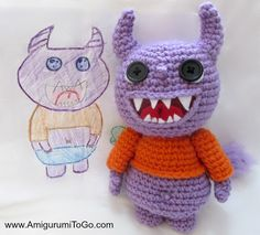 I love my yarny monsters!   These have been an absolute joy to design. Most of the design came from a drawing my daughter did a few yea...