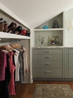 Image result for knock out closet wall extend closet slanted roof