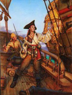 <3 Charlotte de Berry (born 1636, England) was a female pirate captain. Pirates abroad.....Artist: Don Maitz