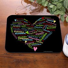 Her Heart Of Love Personalized Mouse Pad