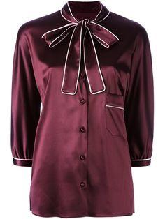 DOLCE & GABBANA pussy bow shirt. #dolcegabbana #cloth #shirt