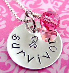 For my mom!!!!   Cancer Survivor Necklace  Hand Stamped by KristyLynnJewelry, $28.00