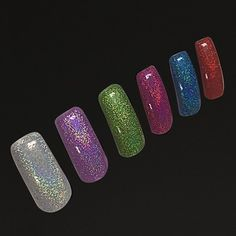 1Pc Holographic Nail Art Laser Powder Glitter Holo DIY Chrome Pigments... ($4.90) ❤ liked on Polyvore featuring beauty products, nail care and nail treatments