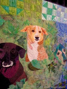 """Forever Friends""  by Jude Edling. 2013 Houston IQF, photo by Quilt Inspiration: It's Raining Cats and Dogs - Part 3"