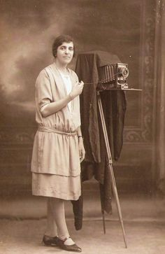 Palestinian Karimeh Abbud (1896-1955), believed to be the first female photojournalist in the Arab world