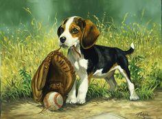 Linda Picken Art Studio / Beagle and Mitt